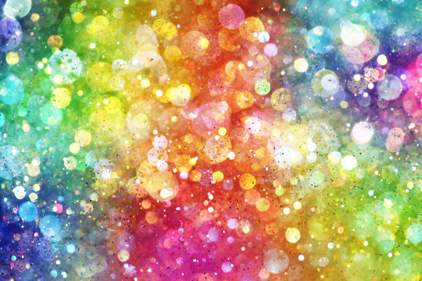 rainbow bokeh red glitter - photo #15