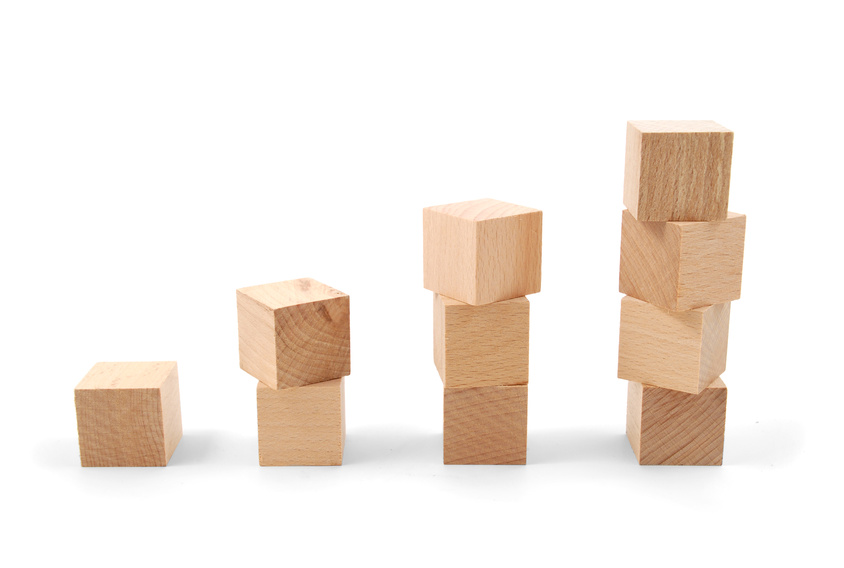 photo of stacks of blocks