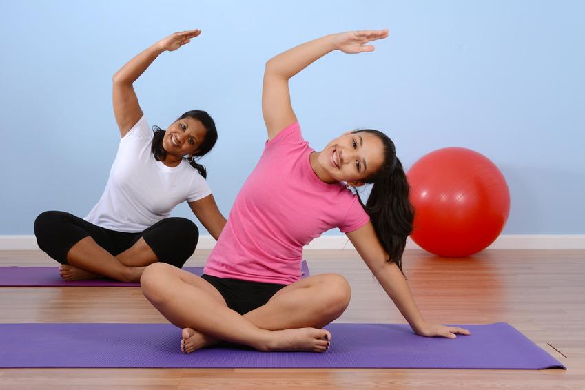 Teen Girl And Woman Doing Yoga Shanti Generation
